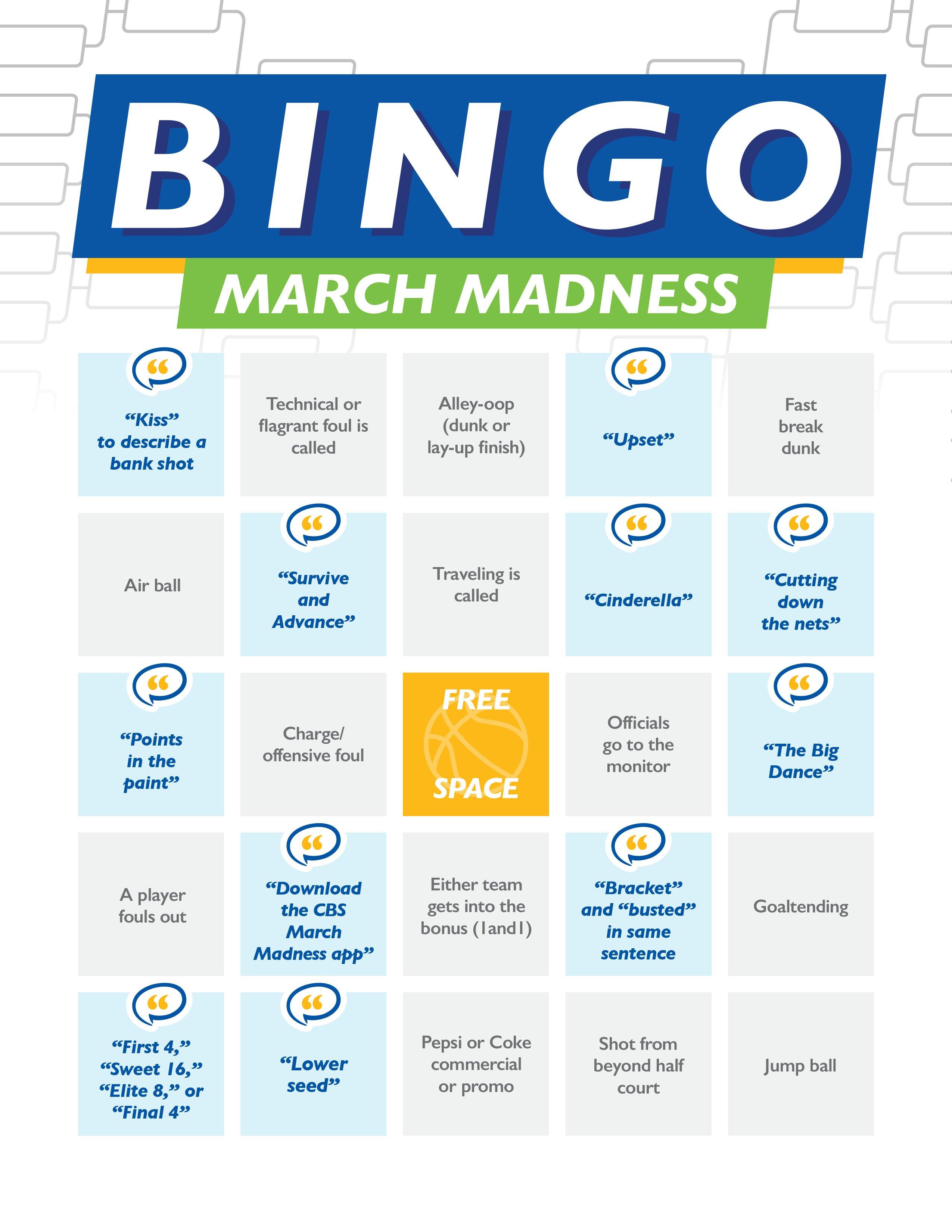 ImOn March Madness Bingo Card 2020