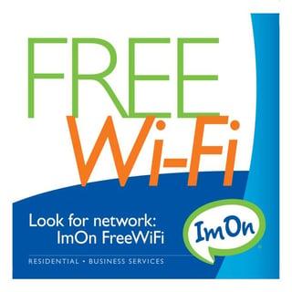 ImOn Free Wi-Fi Sign