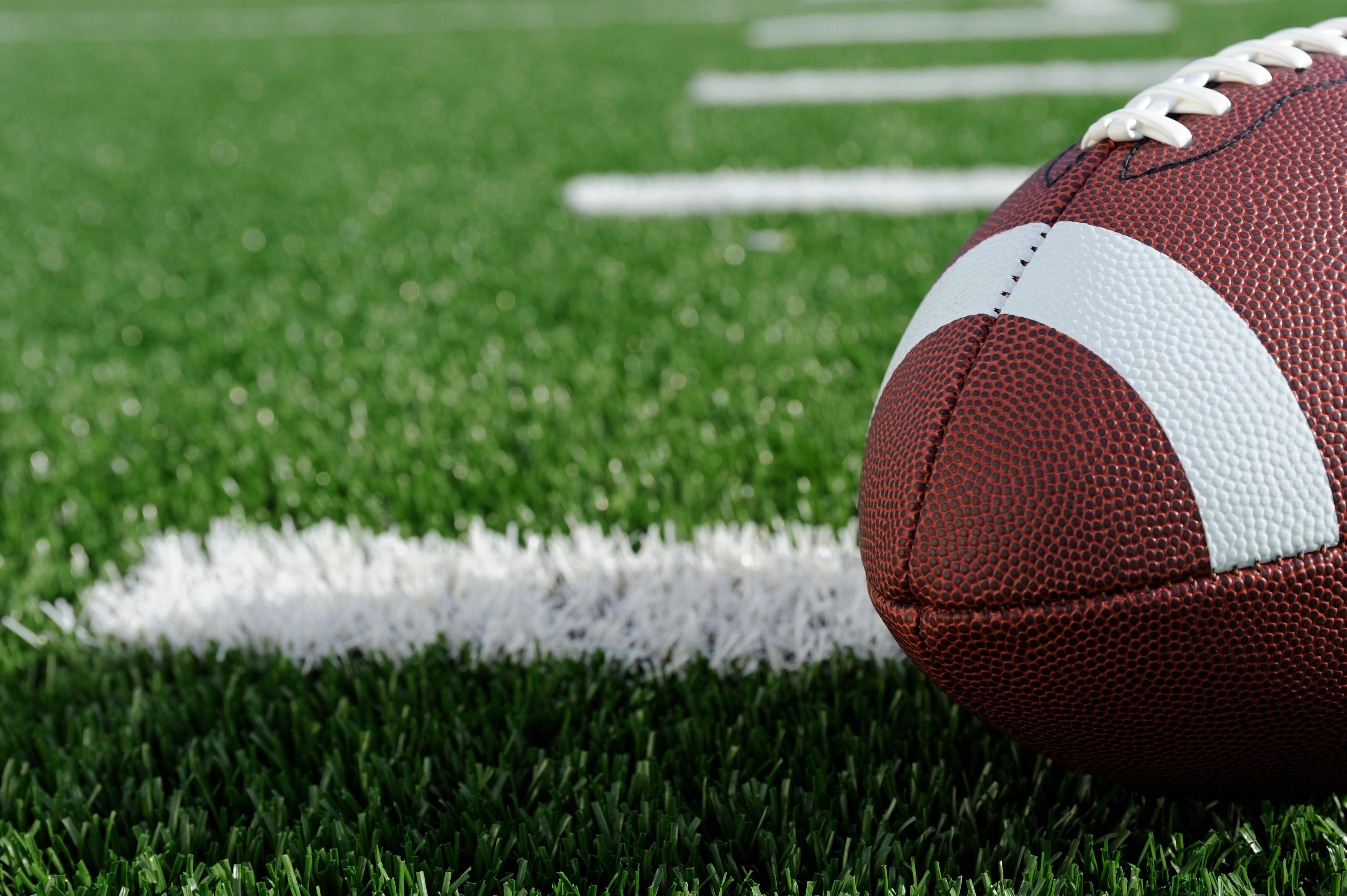 Football on artificial grass