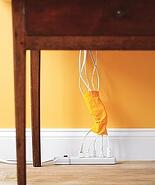 Use sock to cover cords and wires